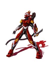 eva 02 battle by kajinman