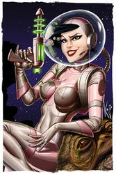 Space girl pin up by kajinman