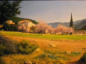 Masia Del Cipres(primavera) by EsglaiArt