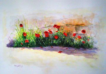 Flores rojas by EsglaiArt