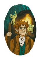 Illustration of Bilbo Baggins by Asiaglocke