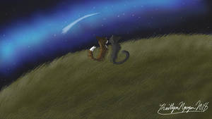Leafpool and Crowfeather at Night by bestsk8eva
