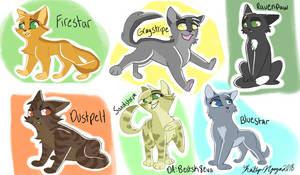Chibi Warriors Cats by bestsk8eva