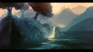 Magic Waterfall by Frostwindz