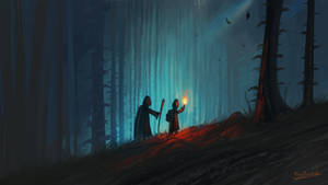 A Walk In The Dark Forest by Frostwindz