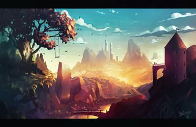 Golden Hills by Frostwindz