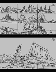 Environment Sketches by Frostwindz