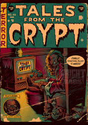 TALES FROM THE CRYPT comic cover by pop-monkey