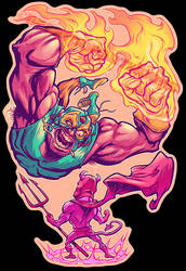LUCHADORO VS. EL DIABLO colors by pop-monkey