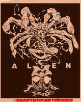 AlienFacehuggerInksWeb by pop-monkey