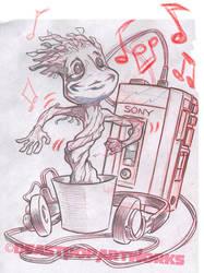 GROOVIN' THROUGH THE GALAXY pencils by pop-monkey