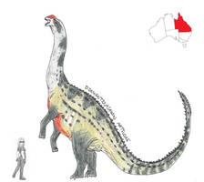 Prehistoric Australia #04: Diamantinasaurus by RajaHarimau98
