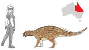 Prehistoric Australia #08: Kunbarrasaurus by RajaHarimau98