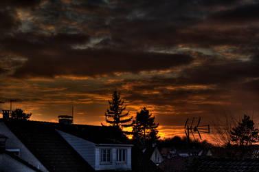 HDR - Cloudy Sunset 7 by GCsabai