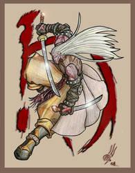 Red dragon warrior by albreech