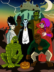 Universal Monsters by CountBedlam