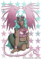 Demon Girl Pinup - Stars by flailingmuse
