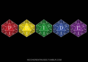 Pride Month! - D20 Pride by flailingmuse