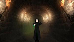 Snape with a leek????Motme by enchantedprey
