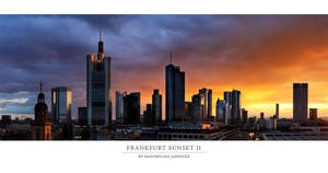 Frankfurt Sunset II by Panomenal