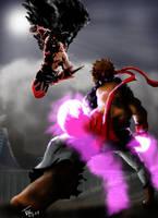 Devil Jin VS Evil Ryu by Tiagotac