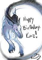 happy birthday kazulthedragon by kimardt