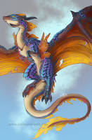 Almician Fauna - Lesser Fire Drake by kimardt