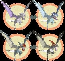 Aerodactyl Variants by kimardt