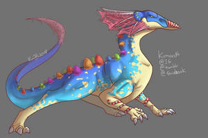 Commission - Candy Dragon by kimardt