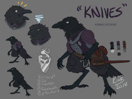 DnD Character Reference - Knives by kimardt