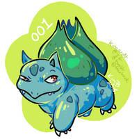 gotta draw 'em all - 001 Bulbasaur by kimardt