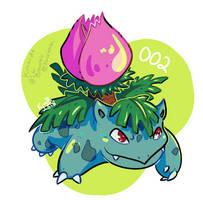 gotta draw 'em all - 002 Ivysaur by kimardt