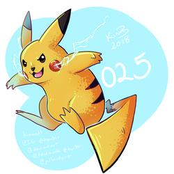 gotta draw 'em all - 025 Pikachu by kimardt