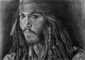 Quick drawing - Jack Sparrow by DeanSidwellArt