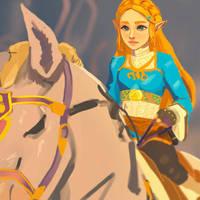 Zelda, Breath of the Wild by smoustart