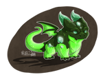 Emerald mud dragon by PhoenixSoar