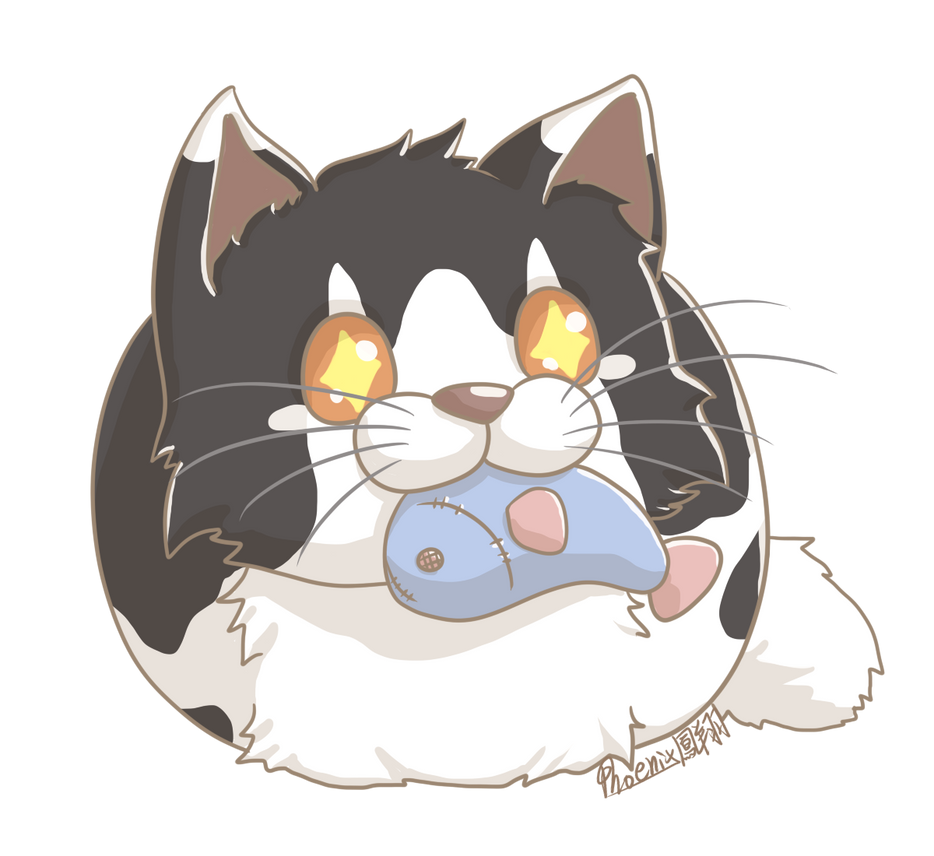 [Weekly cat art 1-3] Fluffy of cat by PhoenixSoar