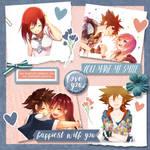 SoraxKairi Scrapbook Page by LoyalBandit1013