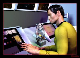 Sulu in Shuttlecraft by mylochka