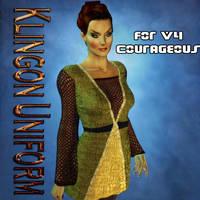 TOS Klingon Uniform Dress for V4 Courageous by mylochka