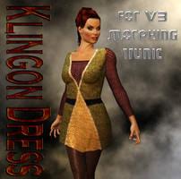 TOS Klingon Uniform Dress for V3 Morphing Tunic by mylochka