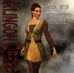 TOS Klingon Uniform Dress for V3 Morphing Tunic by mylochka