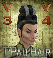 TPau Hair for V4 and V3 by mylochka