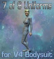 7 of 9 Uniform Textures for V4 Bodysuit by mylochka