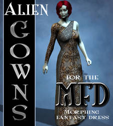 Alien Gown Textures for the Morphing Fantasy Dress by mylochka