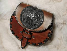 Celtic Leather Sporran Belt Bag by EastCoastLeather
