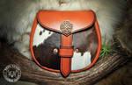 Cowhide Sporran - Celtic Knotwork by EastCoastLeather