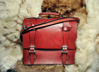 English Bridle Leather Briefcase by EastCoastLeather
