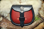 Red and Black Leather Sporran Belt Bag by EastCoastLeather