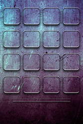 Grunge'd Purple Grid Iphone Wallpaper by bastian1967